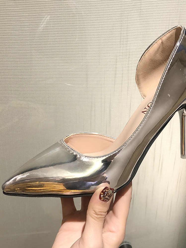 Schuhe frauen 2019 neue sommer mode spitzen high heels flach mund stiletto frauen schuhe