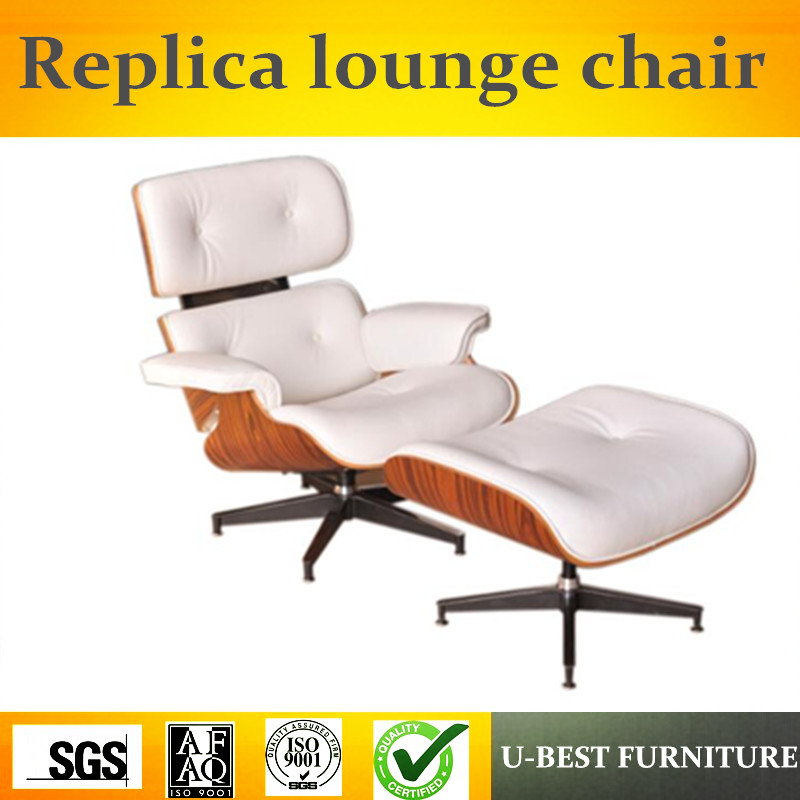 U-BEST Brand New designer Lounge Chair & Ottoman,top grain premium real leather with rosewood or walnut wood,leisure chair цена 2017