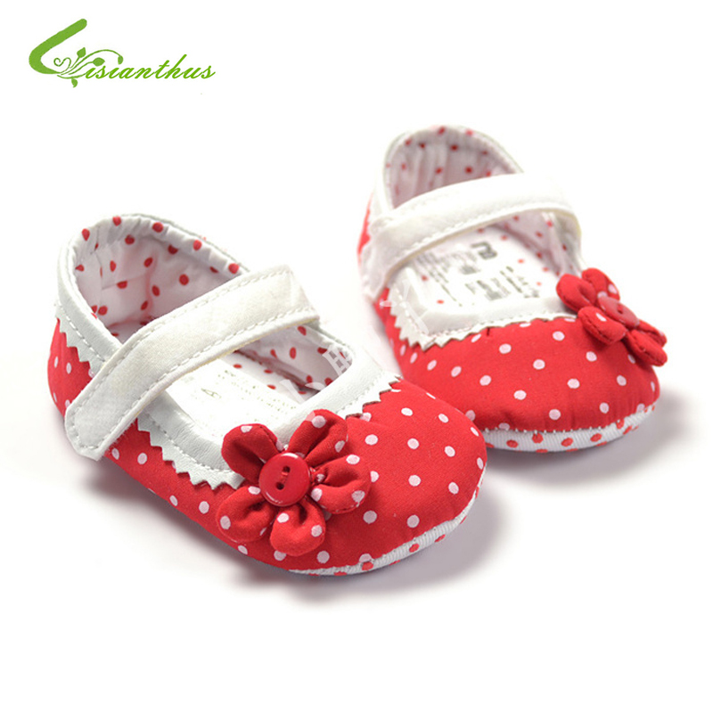 Baby Shoes First Walkers Summer Fashion Baby Girls Cute Polka Dot Shoes Lovely Infant First Walkers Cute Soft Sole Toddler Baby Shoes Hot Sale In Many Styles