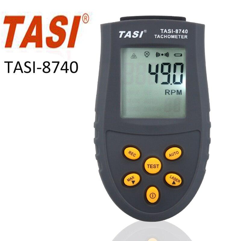 TASI-8740 цифровой тахометр, диапазон измерения 2.5 об./мин. ~ 99,999 об./мин. диапазон оптический тахометр двигателя скорость лазерной тестер