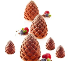 3D Pinecone cake mould handmade soap chocolate mold Silicone candle molds