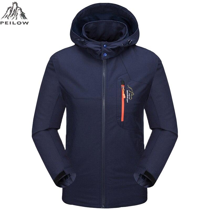 PEILOW spring autumn Men Tactical Softshell Jacket Polartec Thermal Polar Hooded Coat Men Clothes plus size 4XL, 5XL,6XL,7XL,8XL