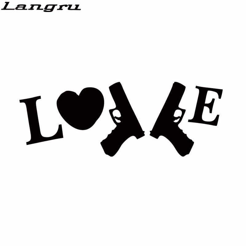 Langru новый стиль автомобиля Стайлинг для I Love My guns вырезанная виниловая наклейка автомобильный Ноутбук Графика Наклейка на окно, бампер JDM