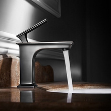BECOLA New Square Black Bathroom Faucet  Basin Mixer Accessories Tap Sink