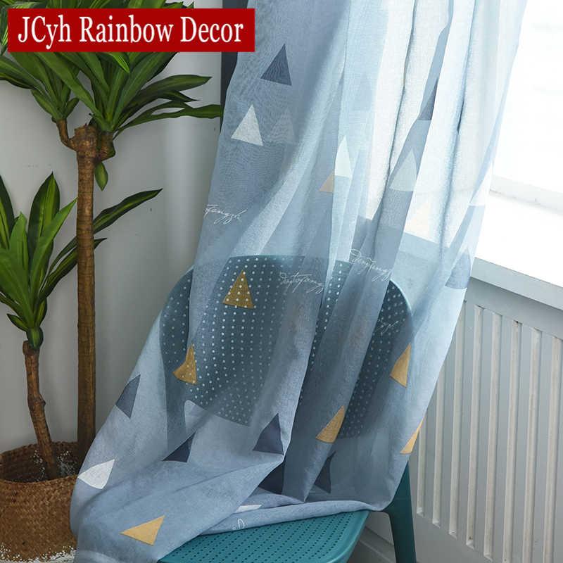 هندسية ستائر تعتيم s لغرفة المعيشة الأطفال غرفة نوم الاطفال نافذة الحديثة الطفل ستائر تعتيم الستائر نمط التظليل