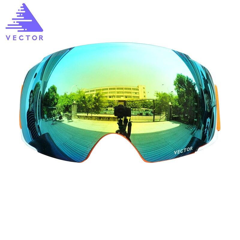Anti-fog UV400 Skiing Goggles Lens Magnet Adsorption Weak Light tint Weather Cloudy Brightening Lens For HXJ20013  (Only Lens) light tint