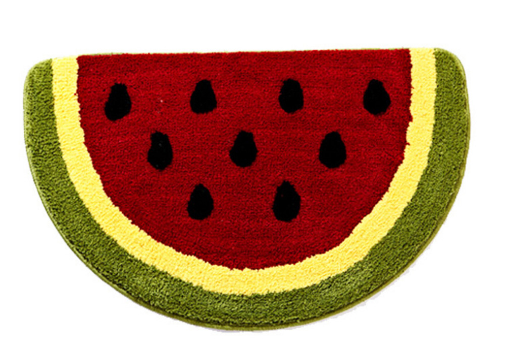 Non Slip Water Absorbing Cute Fruits Lemon Watermelon Half Round Shaped  Bathroom Rugs Kitchen Mats Kidu0027s Room Carpets Baby Mat In Mat From Home U0026  Garden On ...