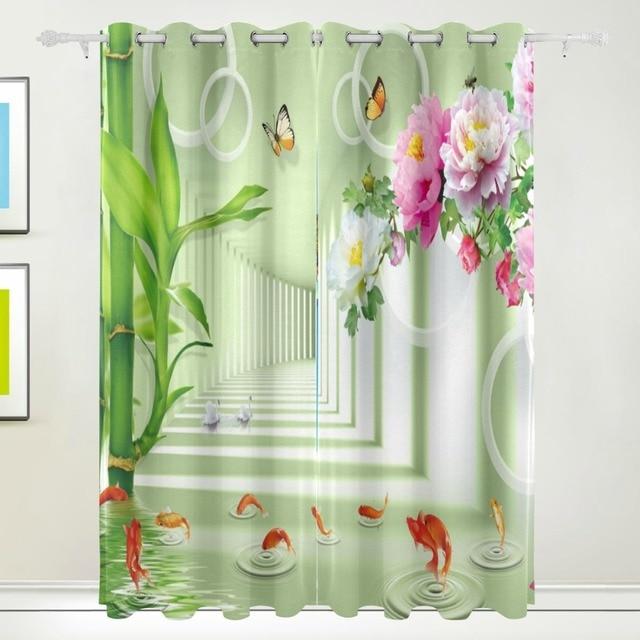 Chinesische Bambus Vorhang Stil Grunen Vorhang Fur Kid Schlafzimmer