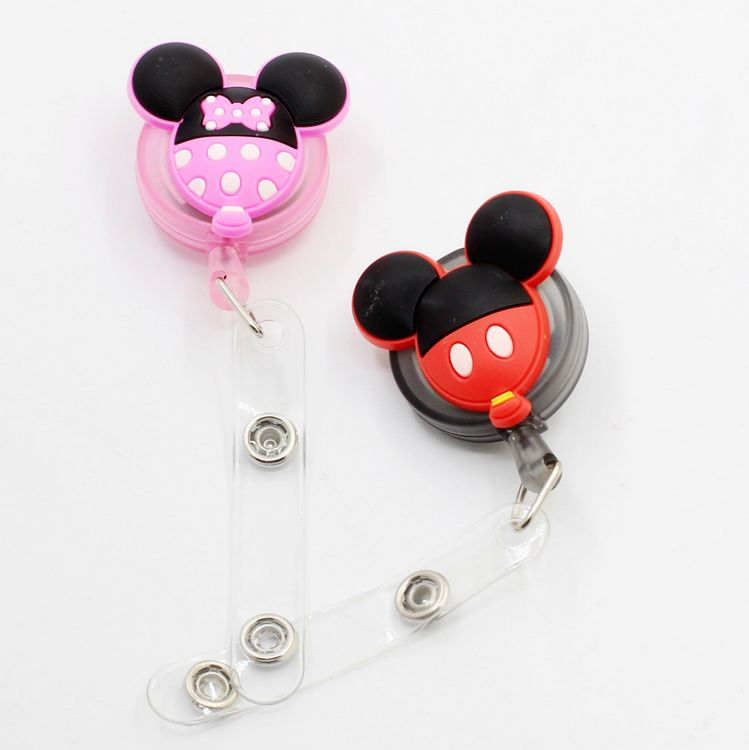 1pcs New Cartoon Colorful Retractable Pull Badge Reel ID Lanyard Name Tag Card Badge Holder Reels For KIDS