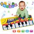 Música alfombra bebé estera del bebé estera música educativos del bebé del piano del niño 72*29 cm plana CX872822