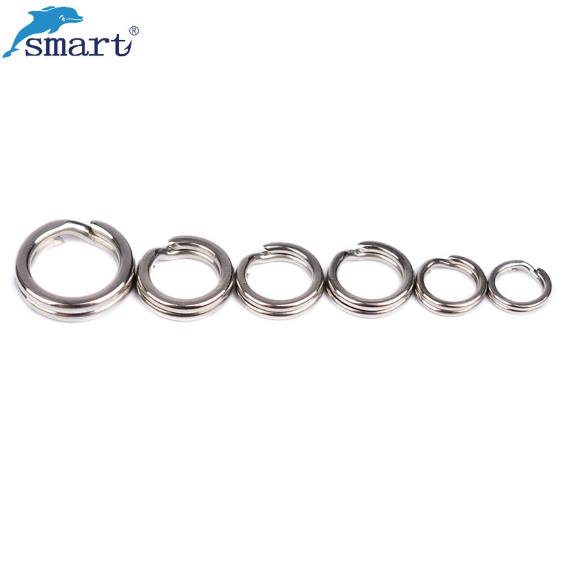 50Pcs 2.5-5.5mm Stainless Steel Fishing Split Rings for Blank Lures Hard Bait Double Loop Hooks Connector Carp Pesca Accesorios 100 pcs pack stainless steel split rings for blank lures crank bait hard bait carp fishing tools double loop 4mm 5mm 7mm