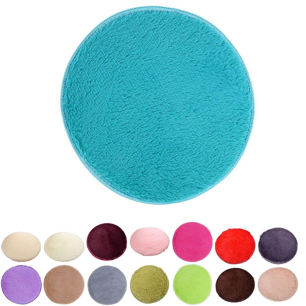 30cm 40cm door floor carpet fluffy round foam rug non slip for Big w bathroom mats
