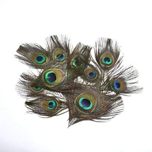 20 PCS 13-16CM Real Peacock Feather Trimmed peacock eye  DIY costumes/Necklace/earrings accessories wedding jewelry Decorative