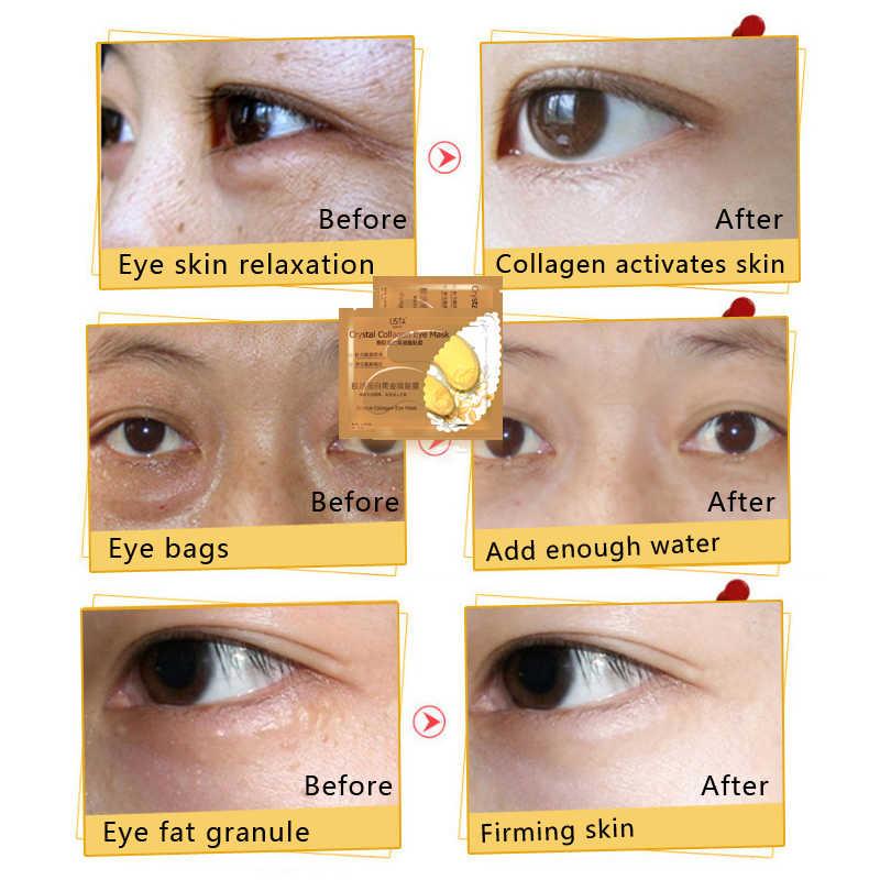 40pcs = 20 confezioni Oro di Cristallo del Collageno della Mascherina di Occhio Palpebra Patch Eye Toppe e Stemmi Anti Umidità Rughe Sotto Gli Occhi Scuro cerchi Rimuovere Cura