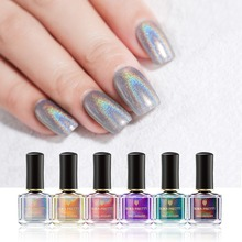 BORN PRETTY 6ml Holographic Nail Polish Fast Dry Flourish Series Art Lacquer Laser Glitter Semi Permanent Varnish