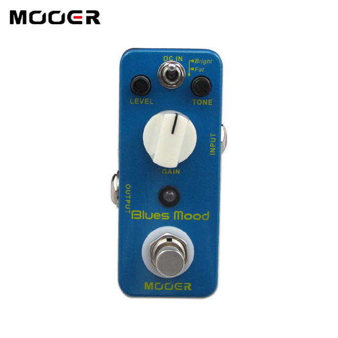 NEW Effect Pedal/MOOER Blues Mood Blues Drive PedalFull metal shell True bypass feee shipping new effect pedal mooer flex boost pedal full metal shell true bypass