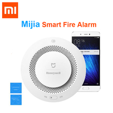 Original Xiaomi Mijia Honeywell Fire Alarm Detector Audible Visual Smoke Sensor Remote Mihome APP Smart Control safety monitor