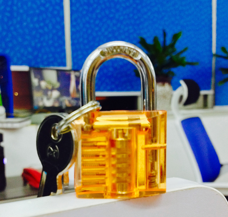 03cd2326d29d HOT Sale!!BULLKEYS Light Orange Transparent Mini Crystal Padlock Packed  with Clear Box BK056-in Locks from Home Improvement on Aliexpress.com | ...
