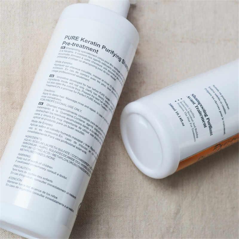 1x PURC shampooing purifiant 300 ml nettoyage en profondeur des produits de Salon de soins capillaires suivre avec le traitement brésilien à la kératine P26