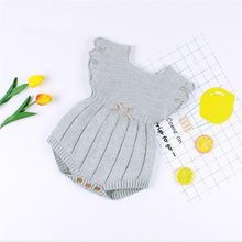 Knitted Baby Clothes Summer Baby Jumpsui