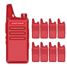 8PCS Zastone ZT-X6 talkie walkie UHF 400-470MHZ 16CH Walkie Talkie Same as KDC1 Red Color two way radio mini walkie talkie
