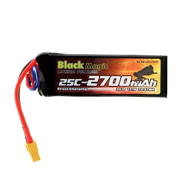 Black Magic Lipo Battery 2700mAh 11.1V 3S 25C XT60 Plug For DJI Phantom Quadcopter Helicopter Parts Drone Bateria