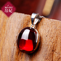 Princess high-end Silver 925 Sterling silver Necklace red Pendant garnet red rhyme female women jewelry girlfriend gift