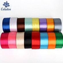 25 Yards Mix Colors Silk Satin Organza Polyester font b Ribbon b font Handmade Christmas font