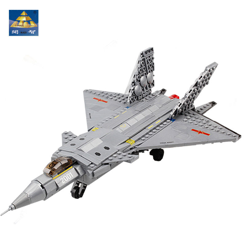 ФОТО With Original Box Kids Toys Building Blocks Kazi Air Military Equipment J20 Stealth Fighter Plane Models Miniature For Boys Gift
