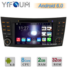 7 «Android 6 Окта основные 2 ГБ RAM 32 ГБ ROM Dvd-плеер Автомобиля Радио стерео GPS Для Mercedes-Benz E Class W211 CLS W219 CLK W209 G W463