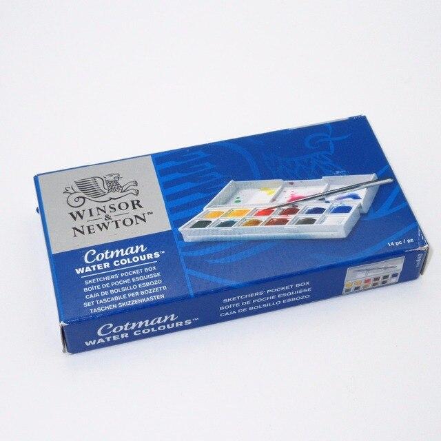 winsor newton cotman watercolor sketchers pocket box 12 half pans