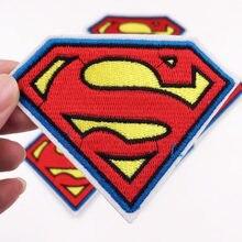 1 шт. Супермен, Логотип S значки железо на аппликации шитье на вышитые патч для одежды джинсы аппликации на одежду DIY аксессуары