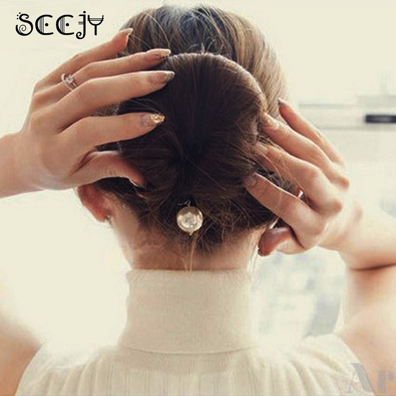 Qualität Frauen Magic Foam Sponge Hairdisk Haar Gerät Donut schnell - Bekleidungszubehör - Foto 3