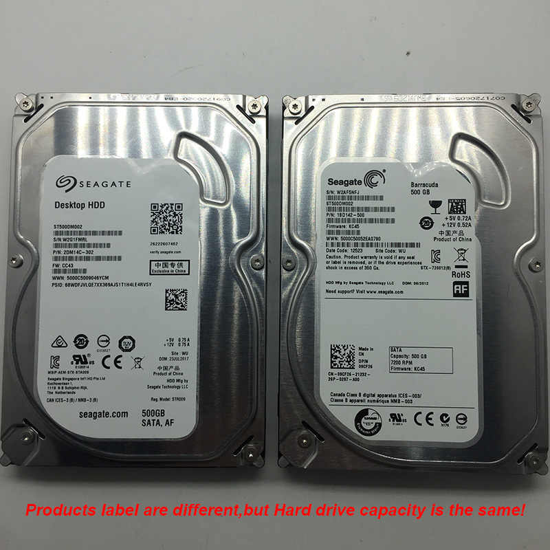 Ban đầu Ổ Cứng Seagate 500 GB 3.5 Inch Cứng Bên Trong Ổ Đĩa 7200 RPM SATA 2.0 16 MB Cache Giám Sát HDD Dành Cho máy TÍNH để bàn