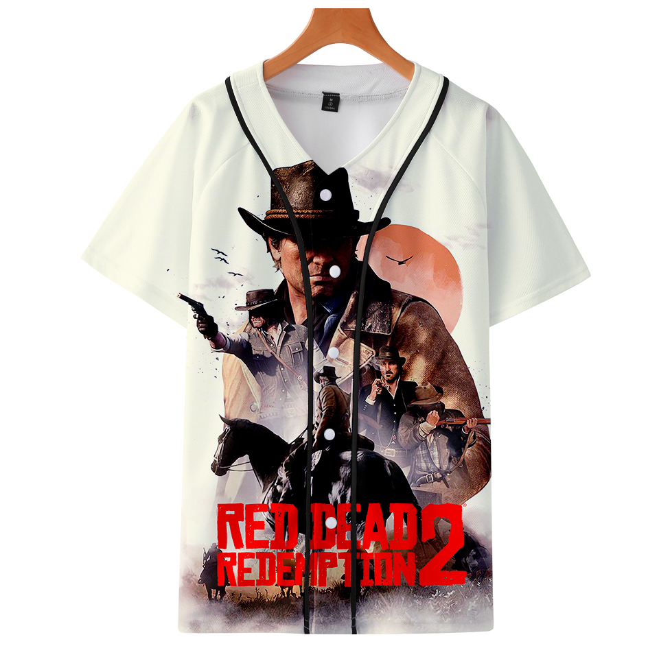 c00edfe0c70 Detail Feedback Questions about KPOP Red Dead Redemption 2 Summer Baseball Tshirts  Unisex America Oversized Clothes 3D T Shirt V Neck Harajuku Tee Shirt Men  ...