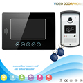 touch panel LCD TFT Color Video door phone Intercom system 700TVL camera outdoor with  inductive card camera IR Night