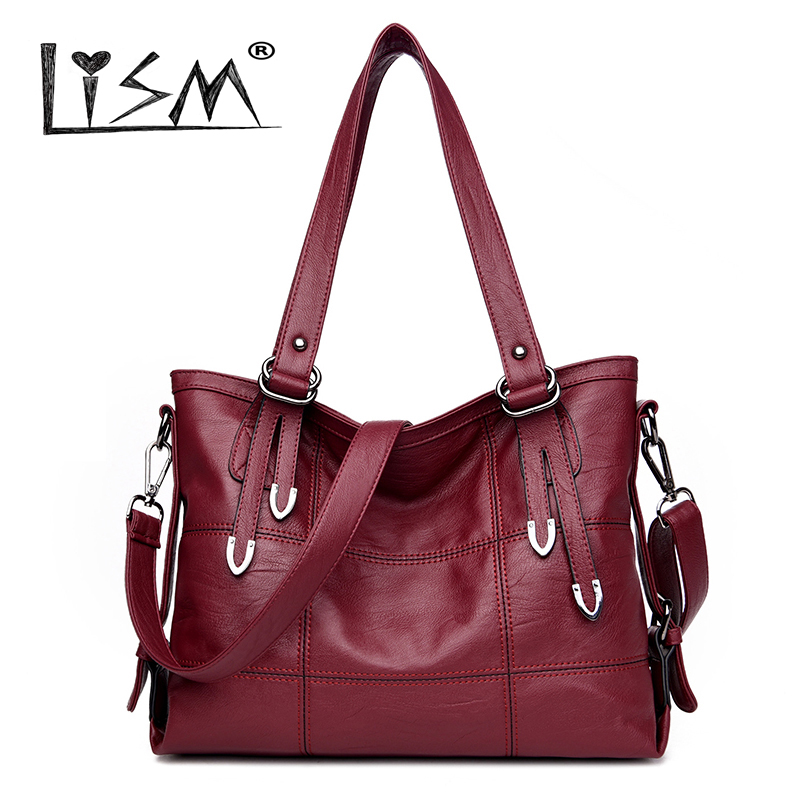 <font><b>Big</b></font> Plaid Female Bolso Ladies Casual Tote <font><b>Bags</b></font> Handbags <font><b>Women</b></font> Famous Brand <font><b>2018</b></font> High Quality Soft PU Leather <font><b>Women</b></font> <font><b>Shoulder</b></font> <font><b>Bags</b></font> image