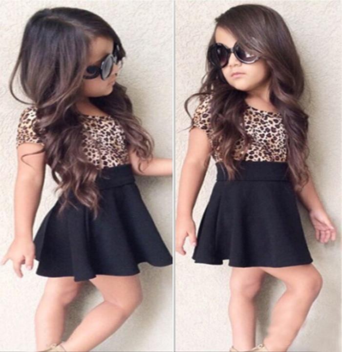 Kids Baby Girls Short Sleeve Tops Tutu Mini Pencil Skirt Dress Party Clothes US