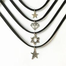 Simple Crystal Black Velvet Choker Necklace