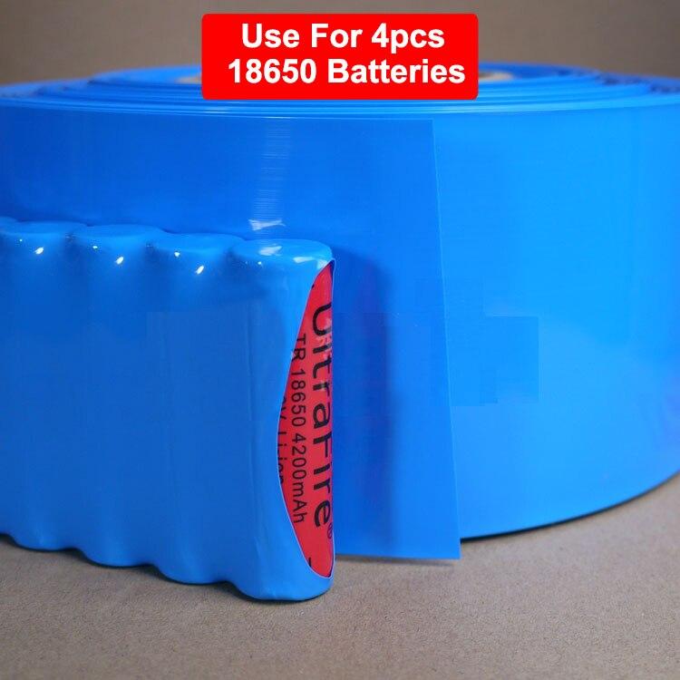 2M Green Blue Dia 55mm Width <font><b>85mm</b></font> For 4pcs 18650 <font><b>Battery</b></font> Pack Wrap Sleeve Insulation PVC Heat Shrinkable Tubing <font><b>Shrink</b></font> <font><b>Tube</b></font>