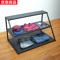 Three layers of water table level display rack bag holder rack Nakajima window display cabinet clothing store display table