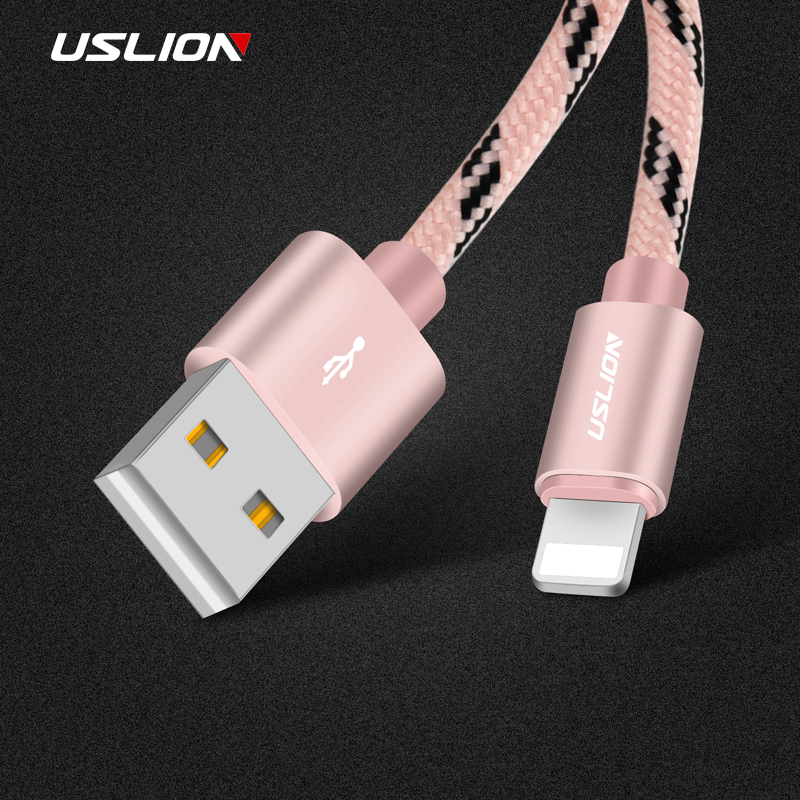 USLION Micro USB Cable For iPhone X 8 7 5 6 Plus Fast Chargis