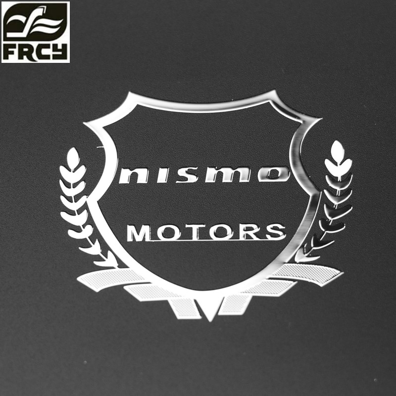 Car-Styling Metal Car Sticker Accessories Case For Nissan Tiida Teana Nismo Skyline Juke X-Trail Qashqai Car Styling Accessories frp fiber glass car styling hood bonnet lip chin valance fin add on tuning parts for nissan skyline r32 gtr gts