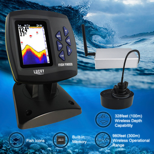 Image 2 - FF918 CWLS LUCKY Color Display Boat Fish Finder Wireless Remote Control 300m/980ft Fishing Wireless Operating Range