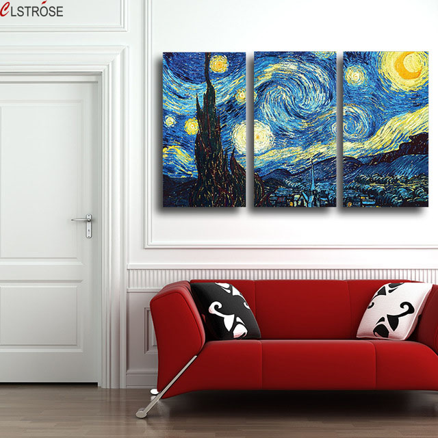 CLSTROSE Night Landscape Painting Prints Reputation Painting On Canvas Wall Art Picture For Living Room Home Decoration Unframed