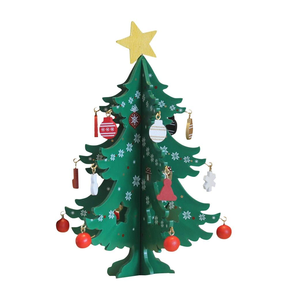 Christmas Tree Decorations Aliexpress: Aliexpress.com : Buy Mini Wooden Merry Christmas Tree