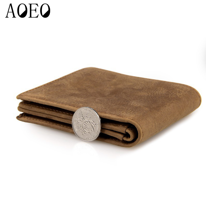 AOEO male wallet slim mens short genuine leather purese with credit card holder zipper coin purse crazy horse wallet for men male wallet men genuine leather purse vintage wallet crazy horse short slim high quality credit card holder dollar price wallet