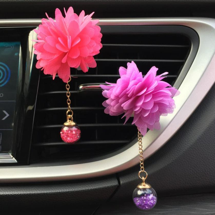 Car Air Freshener Clip Car Loving Gift Air Outlet Fragrant Perfume Flower Freshener Diffuser Camellia jun5
