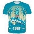 Bonito Dos Desenhos Animados Pokemon camisetas Squirtle Zenigame tees Engraçado 3D t shirt Homens Mulheres Férias de Verão camisetas tops