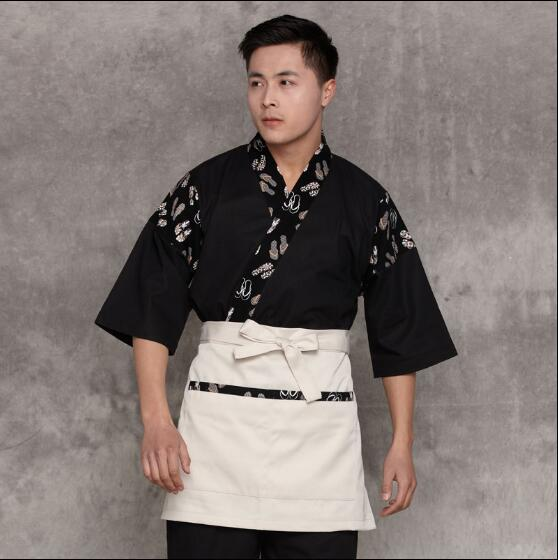 Chef uniform Men 2017 Japanese waitress uniform Japanese waiter uniform